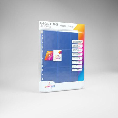 Gamegenic - 18 - Pocket Pages Side Loading - Blue - (10 pages bag)