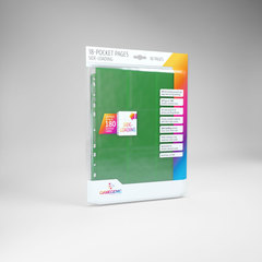 Gamegenic - 18 - Pocket Pages Side Loading - Green - (10 pages bag)