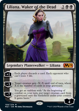 Liliana, Waker of the Dead - Foil