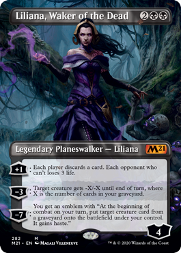 Liliana, Waker of the Dead - Borderless