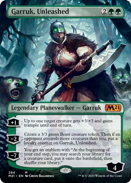 Garruk, Unleashed - Foil - Borderless