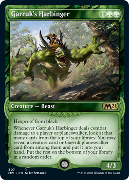 Garruks Harbinger - Foil - Showcase