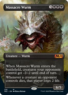 Massacre Wurm - Foil - Alternate Art