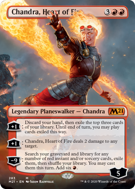 Chandra, Heart of Fire - Foil - Borderless
