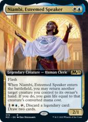 Niambi, Esteemed Speaker - Foil - Extended Art