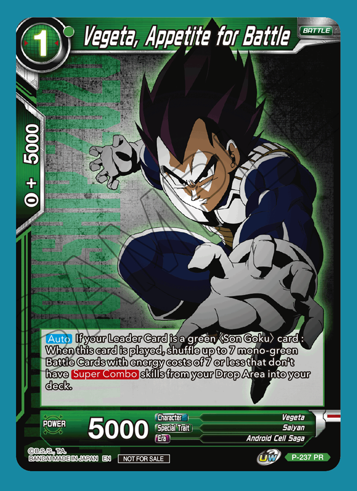 Vegeta, Appetite for Battle (Championship Pack 2020 Vol. 2) - P-237 - PR
