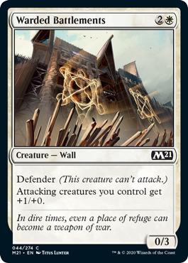 Warded Battlements - Foil