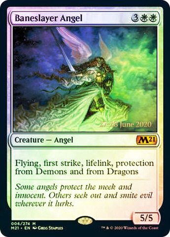 Baneslayer Angel - Foil - Prerelease Promo