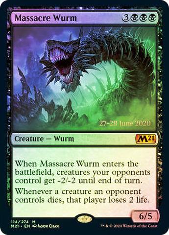 Massacre Wurm - Foil - Prerelease Promo
