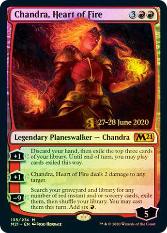 Chandra, Heart of Fire - Foil - Prerelease Promo