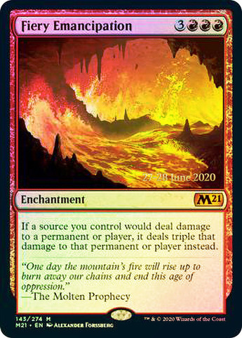 Fiery Emancipation - Foil - Prerelease Promo
