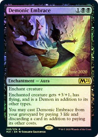 Demonic Embrace - Foil - Prerelease Promo