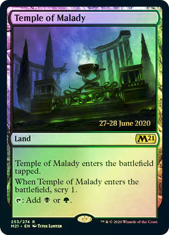 Temple of Malady - Foil - Core Set 2021 Prerelease Promo