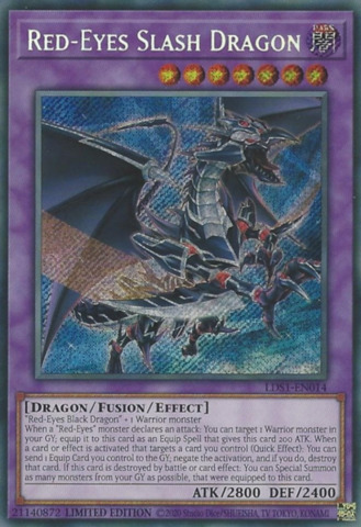 Red-Eyes Slash Dragon - LDS1-EN014 - Secret Rare - Limited Edition