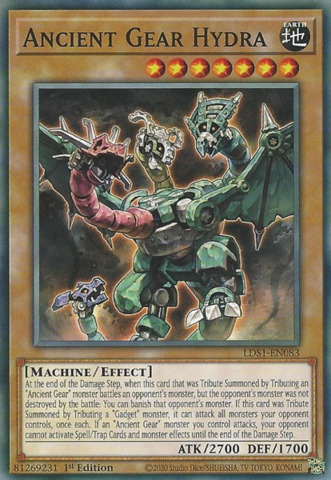 Ancient Gear Hydra - LDS1-EN083 - Common - 1st Edition
