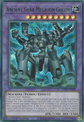 Ancient Gear Megaton Golem (Green) - LDS1-EN088 - Ultra Rare - 1st Edition