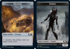 Treasure Token // Zombie Token - Foil