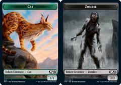 Cat Token (020) // Zombie Token - Foil