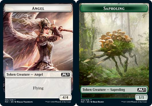 Angel Token // Saproling Token - Foil