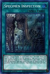 Specimen Inspection - BLAR-EN013 - Secret Rare - 1st Edition