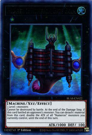 Number 1: Numeron Gate Ekam - BLAR-EN022 - Ultra Rare - 1st Edition
