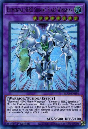 Elemental HERO Shining Flare Wingman - BLAR-EN054 - Ultra Rare - 1st Edition