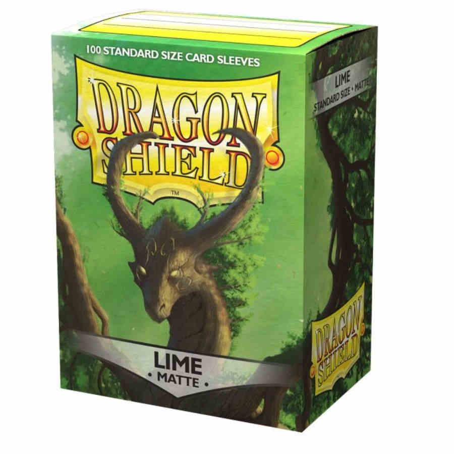 Dragon Shield Sleeves: Matte Lime (Box of 100)