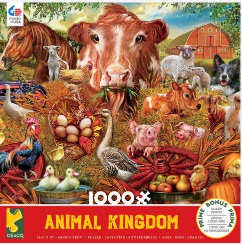 Animal Kingdom - Farm - 1000 Piece Puzzle