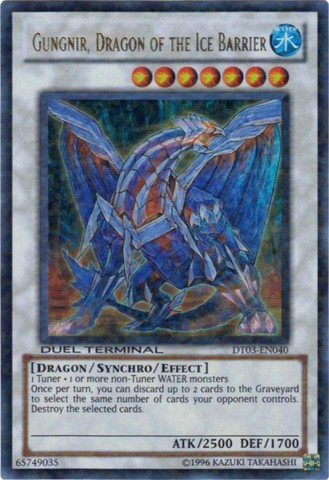 Gungnir, Dragon of the Ice Barrier - DT03-EN040 - Ultra Parallel Rare - Duel Terminal