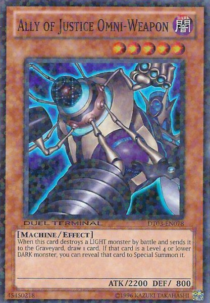 Ally of Justice Omni-Weapon - DT03-EN078 - Super Parallel Rare - Duel Terminal
