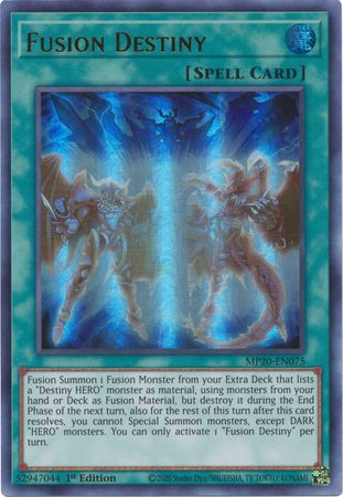Fusion Destiny - MP20-EN075 - Ultra Rare - 1st Edition