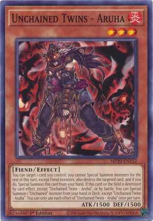 Unchained Twins - Aruha - MP20-EN152 - Common - 1st Edition