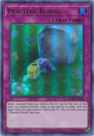 Peaceful Burial - MP20-EN196 - Ultra Rare - 1st Edition