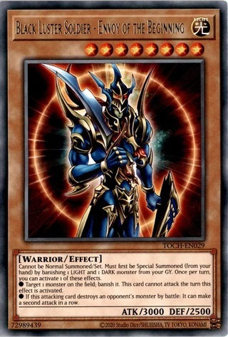 Black Luster Soldier - Envoy of the Beginning - TOCH-EN029 - Collectors Rare - Unlimited Edition