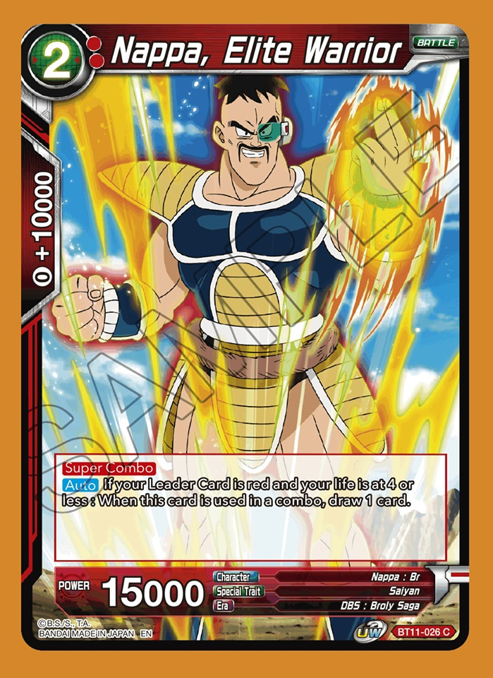 Nappa, Elite Warrior - BT11-026 - C - Foil
