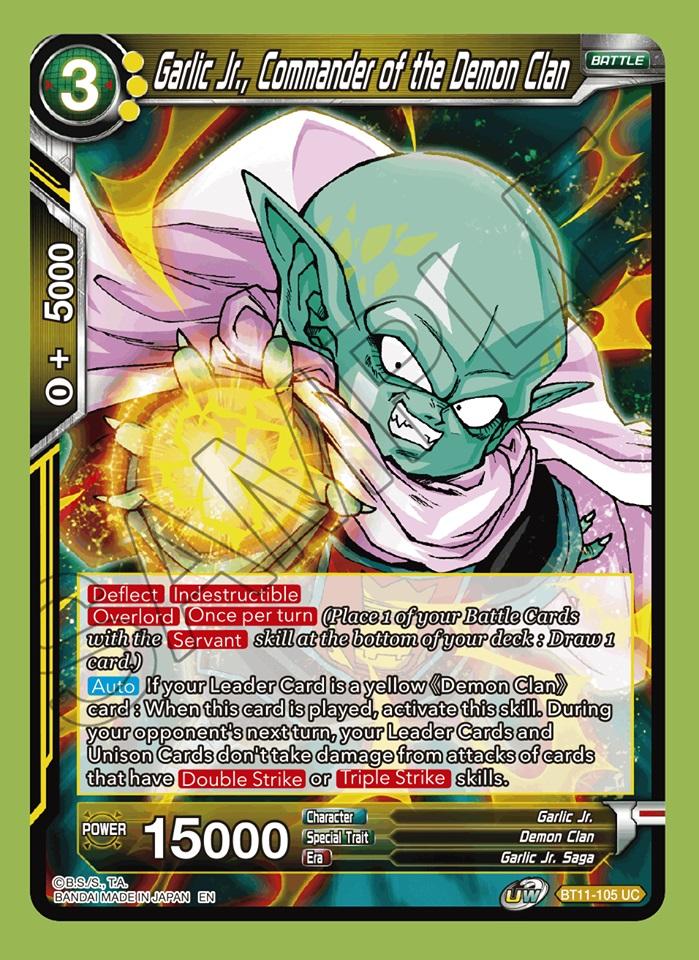 Garlic Jr Commander Of The Demon Clan Bt11 105 Uc Dragon Ball Super Ccg Singles Series 11 Vermilion Bloodline Carta Magica One of my best works so far. carta magica