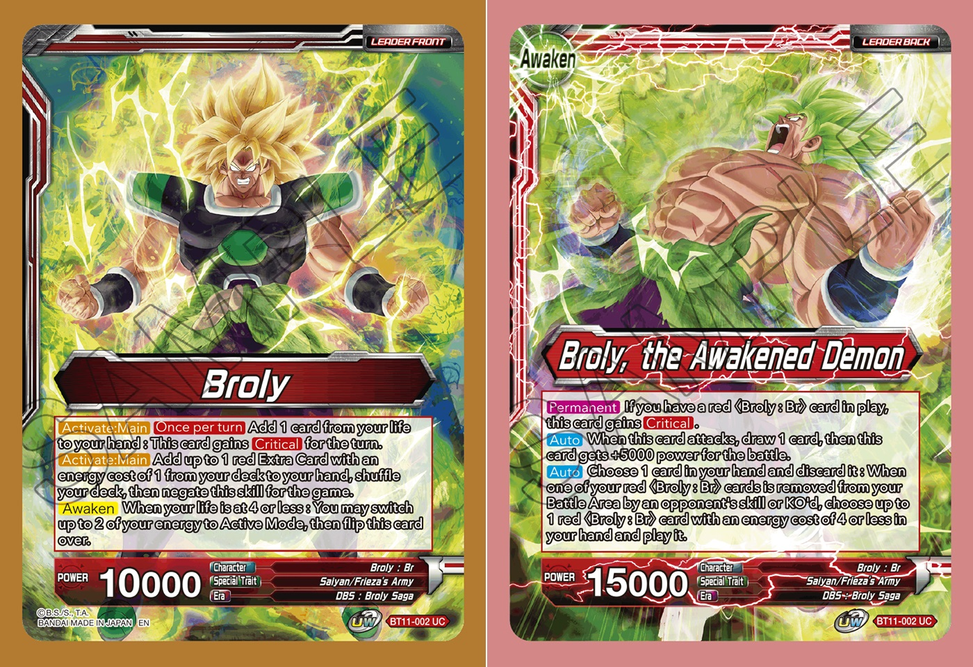 Broly // Broly, the Awakened Demon - BT11-002 - UC - Foil