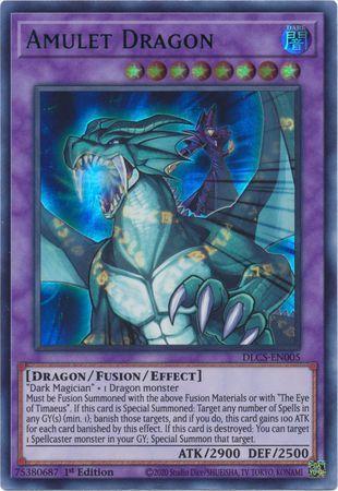 Amulet Dragon (Blue) - DLCS-EN005 - Ultra Rare - 1st Edition