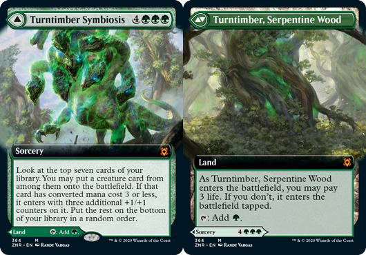 Turntimber Symbiosis // Turntimber, Serpentine Wood - Foil - Extended Art