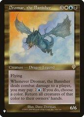 Dromar, the Banisher - The List