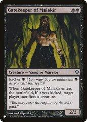 Gatekeeper of Malakir - The List