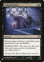 Unburial Rites - The List
