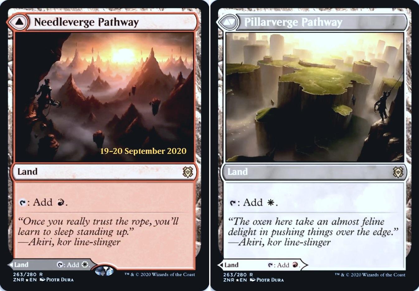 Needleverge Pathway // Pillarverge Pathway - Foil - Prerelease Promo