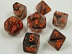 7 Heavy Dice Set - Lab Dice 4 - Copper Matrix/Orange Luminary- CHX30040