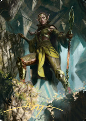 05 Nissa of Shadowed Boughs Art Card - Gold-Stamped Signature