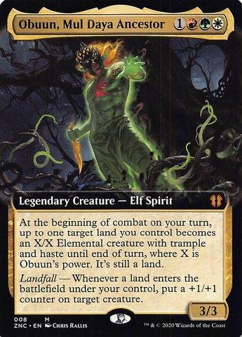 Obuun, Mul Daya Ancestor (Extended Art) - Foil