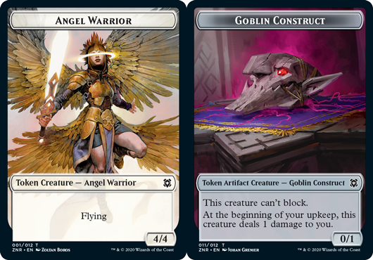Angel Warrior Token // Goblin Construct Token - Foil