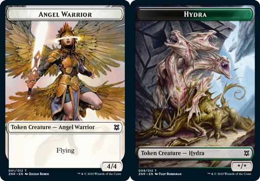 Angel Warrior Token // Hydra Token - Foil