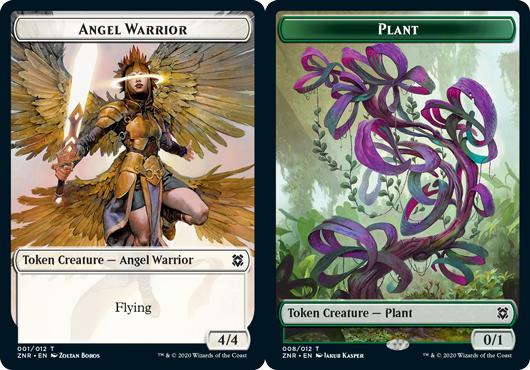 Angel Warrior Token // Plant Token - Foil