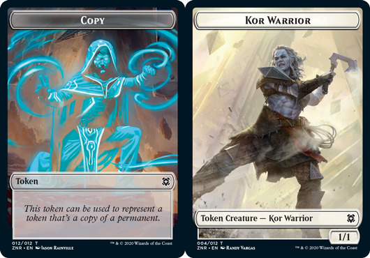 Copy Token // Kor Warrior Token - Foil